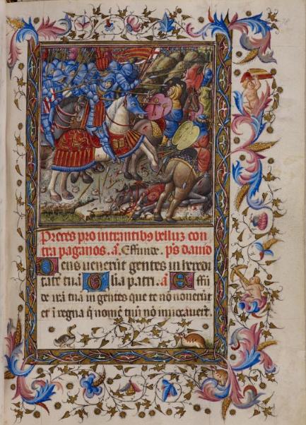 Libro de Horas de Alfonso el Magnánimo. BL Add MS 28962. Fol. 78 r.