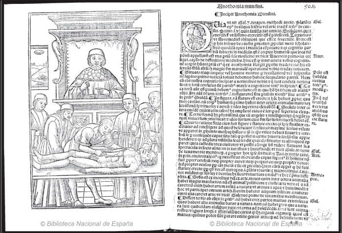 U/10657 Mondino dei Luzzi.  Anothomia Mundini (1520) http://bdh.bne.es/bnesearch/detalle/bdh0000089924